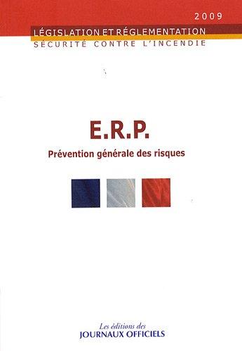 """""""ERP ; prévention générale des risques"""": Journaux officiels"""