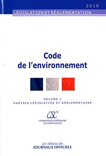 Code de l'environnement (2 volumes) - Textes: Journaux officiels (DJO)