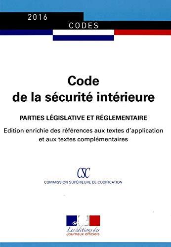 Code de la sécurité intérieure: Journal Officiel
