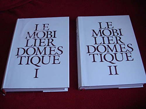 9782110809179: Le Mobilier Domestique : Vocabulaire Typologique (Principes d'analyse scientifique) - 2 Volumes