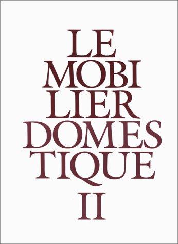 9782110812223: Le mobilier domestique, tome 2