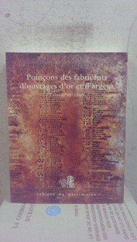 9782110812933: Poin�ons des fabricants d'ouvrages d'or et d'argent, Lyon, 1798-1940 (Dictionnaire des poin�ons de l'orf�vrerie fran�aise)