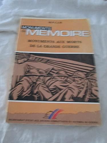 9782110869708: Monuments de mémoire: Les monuments aux morts de la Première Guerre Mondiale (French Edition)