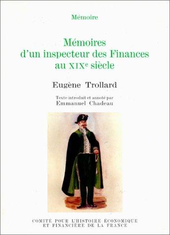 9782110878342: Mémoires d'un inspecteur des finances au XIXe siècle