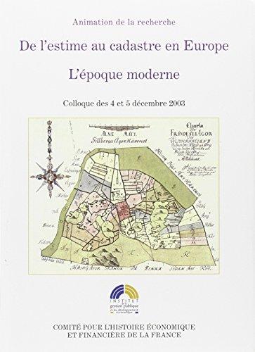 De l'estime au cadastre en Europe (French Edition): Mireille Touzery