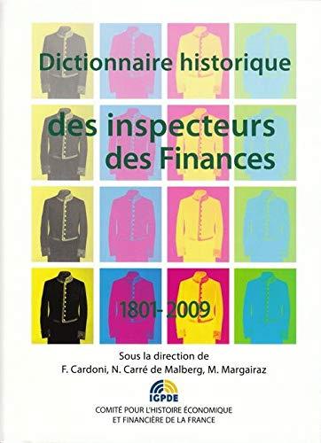 9782110975218: Dictionnaire historique des inspecteurs des finances 1801-2009