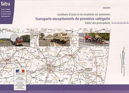 9782111298866: Carte nationale des itin�raires de transports exceptionnels de premi�re cat�gorie : 3 volumes : carte, livret CP, brochure CPTE