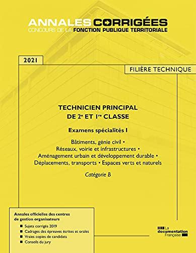 9782111570955: Technicien principal de 2e et 1re classe 2021 - Examens spécialité 1