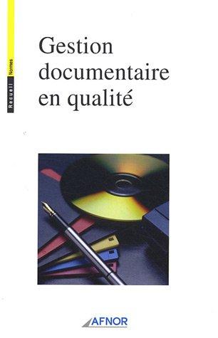 9782122189115: Gestion documentaire en qualité