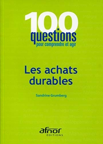 Les achats durables (French Edition): Sandrine Grumberg