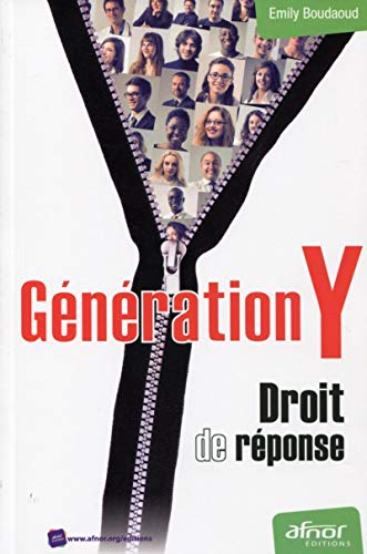 GENERATION Y DROIT DE REPONSE: BOUDAOUD EMILY