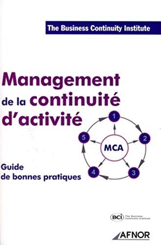 Management de la continuite d'activite (French Edition)