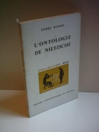 9782130314561: L'Ontologie de Nietzsche