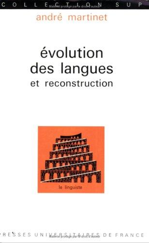 9782130335979: Evolution des langues et reconstruction