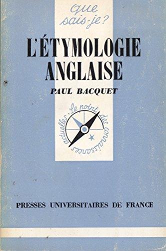 L'Etymologie Anglaise