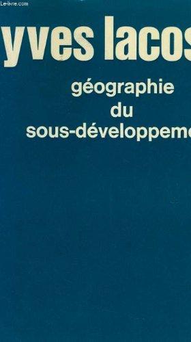 9782130342731: Géographie du sous-développement