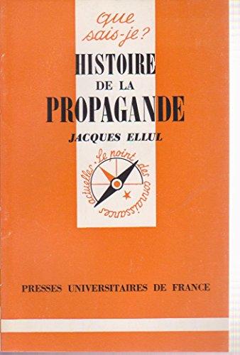 9782130348443: HISTOIRE DE LA PROPAGANDE