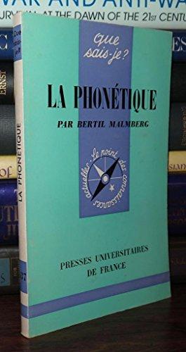 Phonetique (la): B.Malmberg