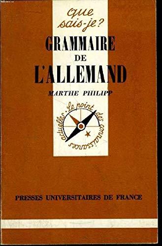 Grammaire de l'allemand: M Philipp