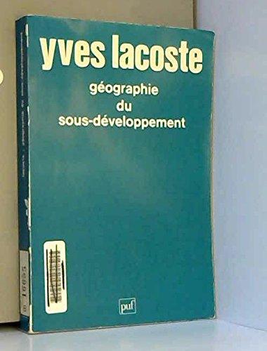 9782130368212: Geographie du Sous-Developpement