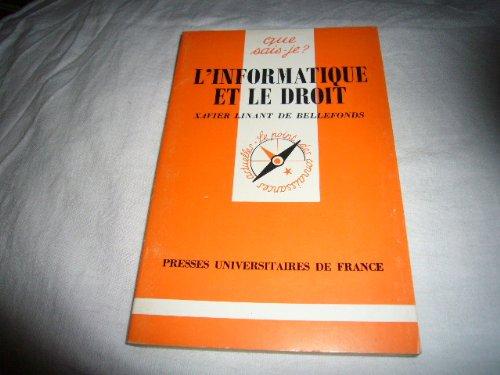 9782130369158: Informatique et le Droit (l')