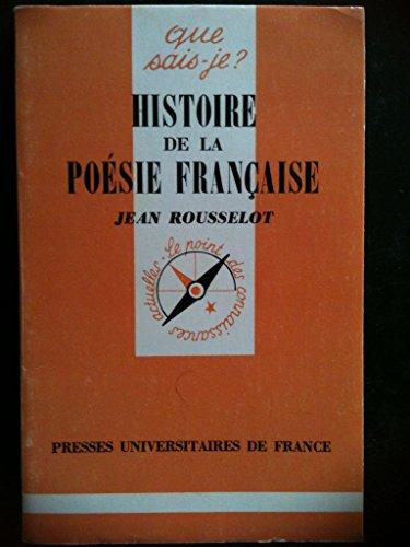 9782130373087: Histoire de la poésie française