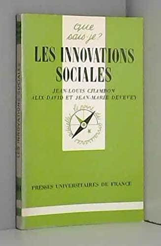 9782130373889: Les innovations sociales