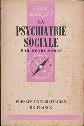 9782130373957: La psychiatrie sociale