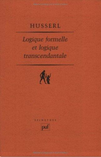 9782130377627: Logique formelle et Logique transcendantale