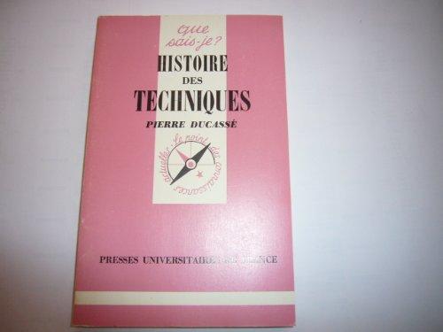 9782130377894: Histoire des techniques