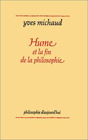 9782130379324: Hume et la fin de la philosophie (Philosophie d'aujourd'hui) (French Edition)