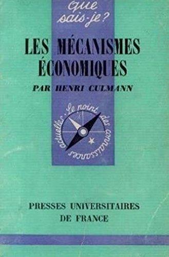9782130381921: Les M�canismes �conomiques