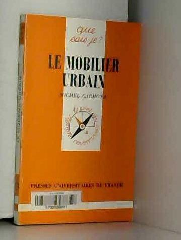 9782130383840: Le Mobilier urbain (Que sais-je ?)