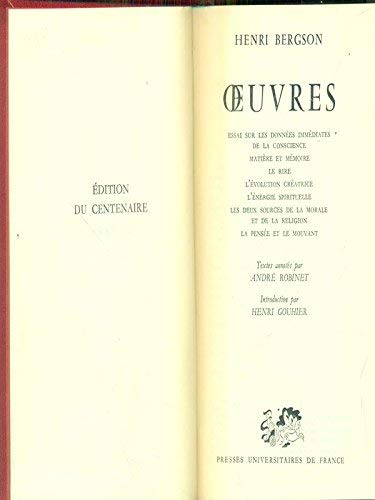 9782130384953: Oeuvres (French Edition)