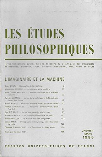 Les études philosophiques Descartes et l'Allemagne: Collectif