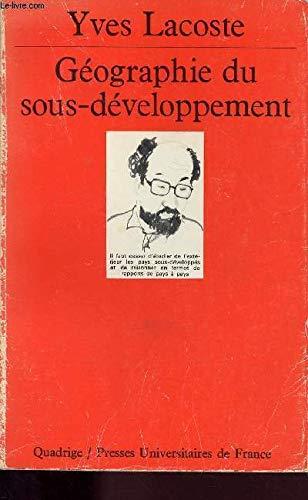 9782130390862: Géographie du sous-développement