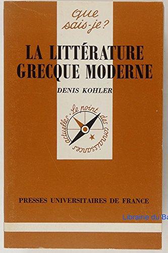 9782130391111: La Litt�rature grecque moderne