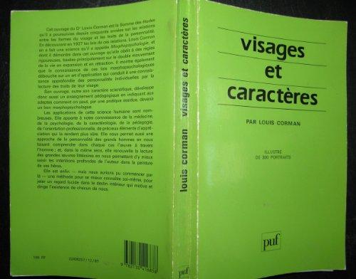 9782130391234: Visages et caractères: La science morphopsychologique (French Edition)