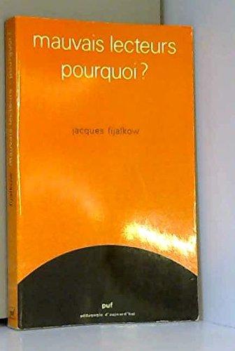 9782130392071: Mauvais lecteurs, pourquoi? (Pedagogie d'aujourd'hui) (French Edition)