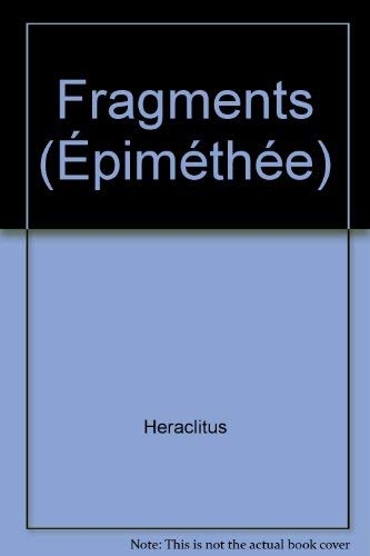 9782130395782: Fragments (Epiméthée) (French Edition)