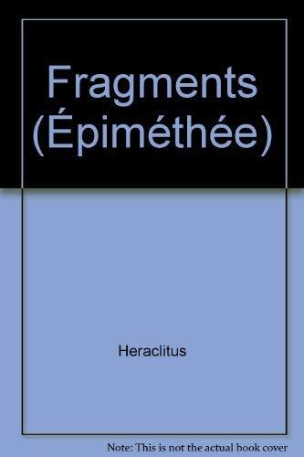 9782130395782: Fragments (Epiméthée) (French Edition)