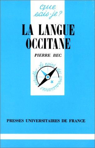9782130396390: La Langue occitane