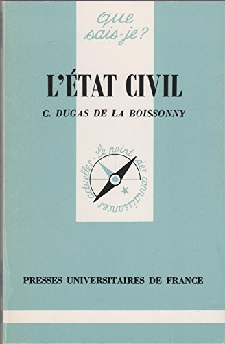 9782130398042: L'État civil