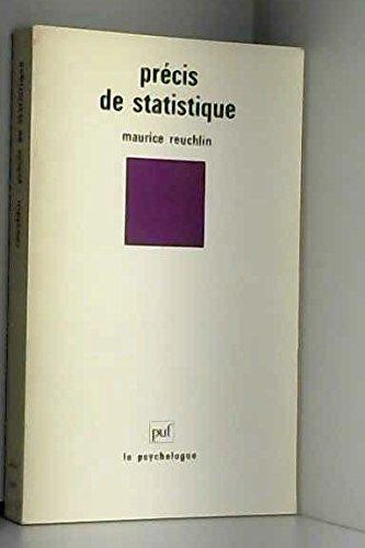 9782130401674: Precis de statistique