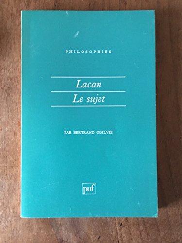 9782130402367: Lacan, la formation du concept de sujet, 1932-1949
