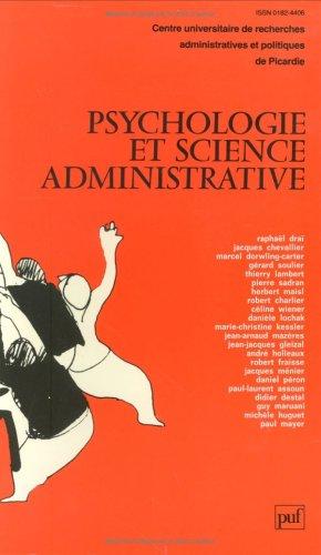 9782130407058: Psychologie et science administrative