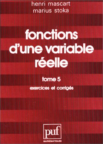 9782130414209: Fonctions d'une variable réelle
