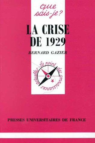 9782130421443: La Crise de 1929