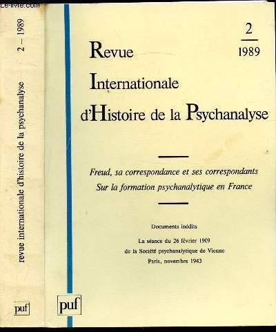 9782130425458: REVUE INTERN. HISTOIRE PSYCHA.1989/2 (Revue Internat)