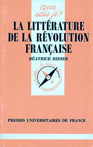 9782130425861: La Litt�rature de la R�volution fran�aise
